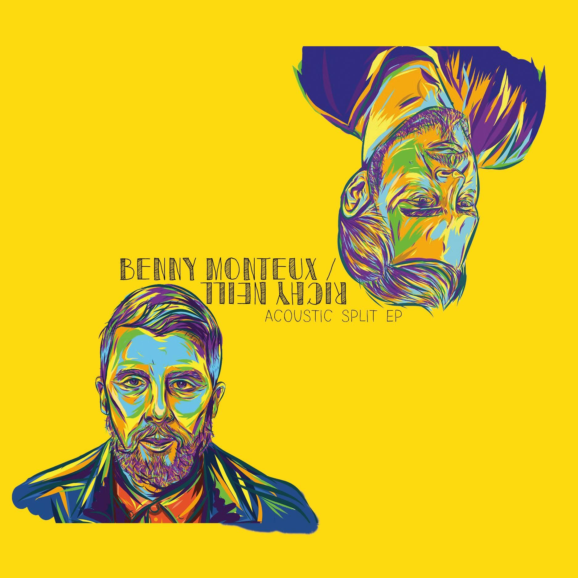 Benny Monteux & Richy Neill Acoustic split EP Artwork