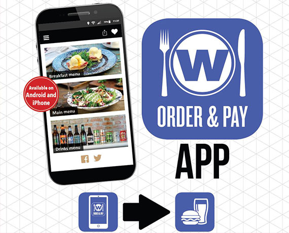 Advert for Wetherspoons App