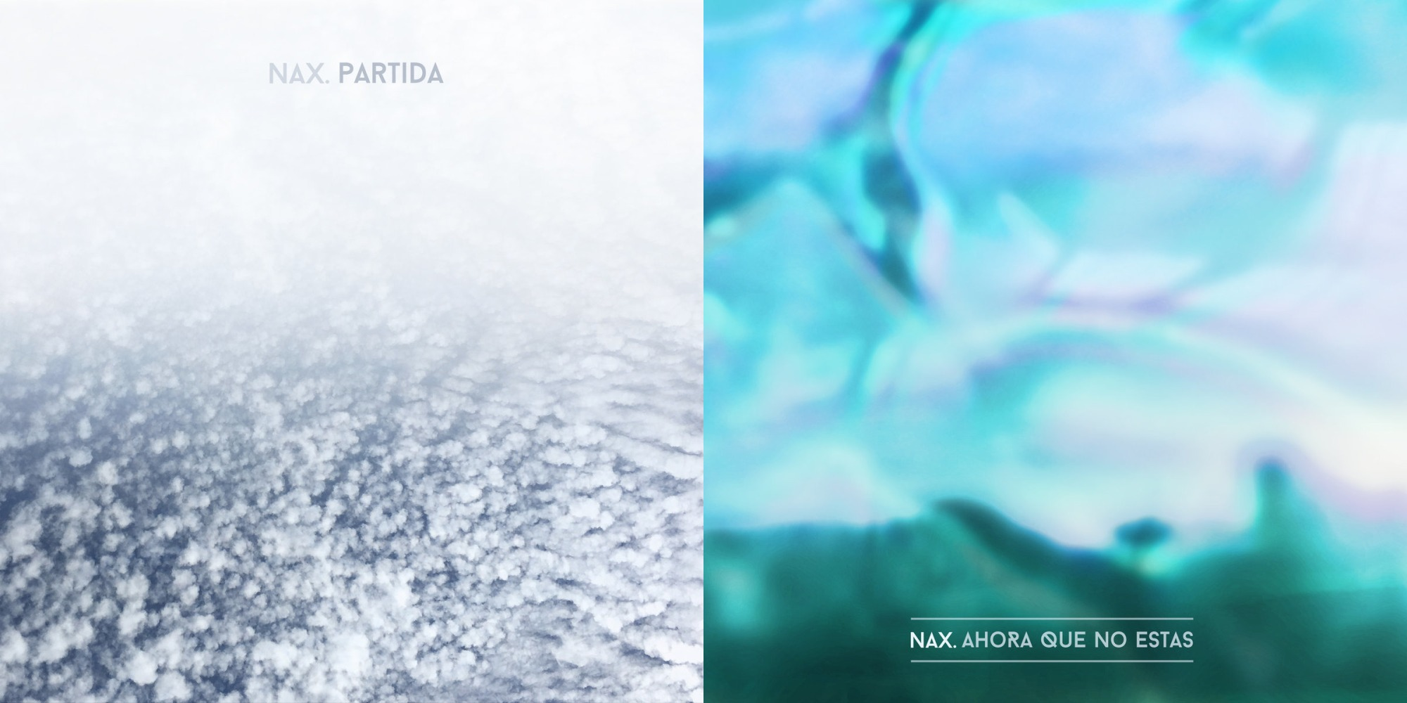 Nax singles 'Partida' and 'Ahora que no estas' Artwork