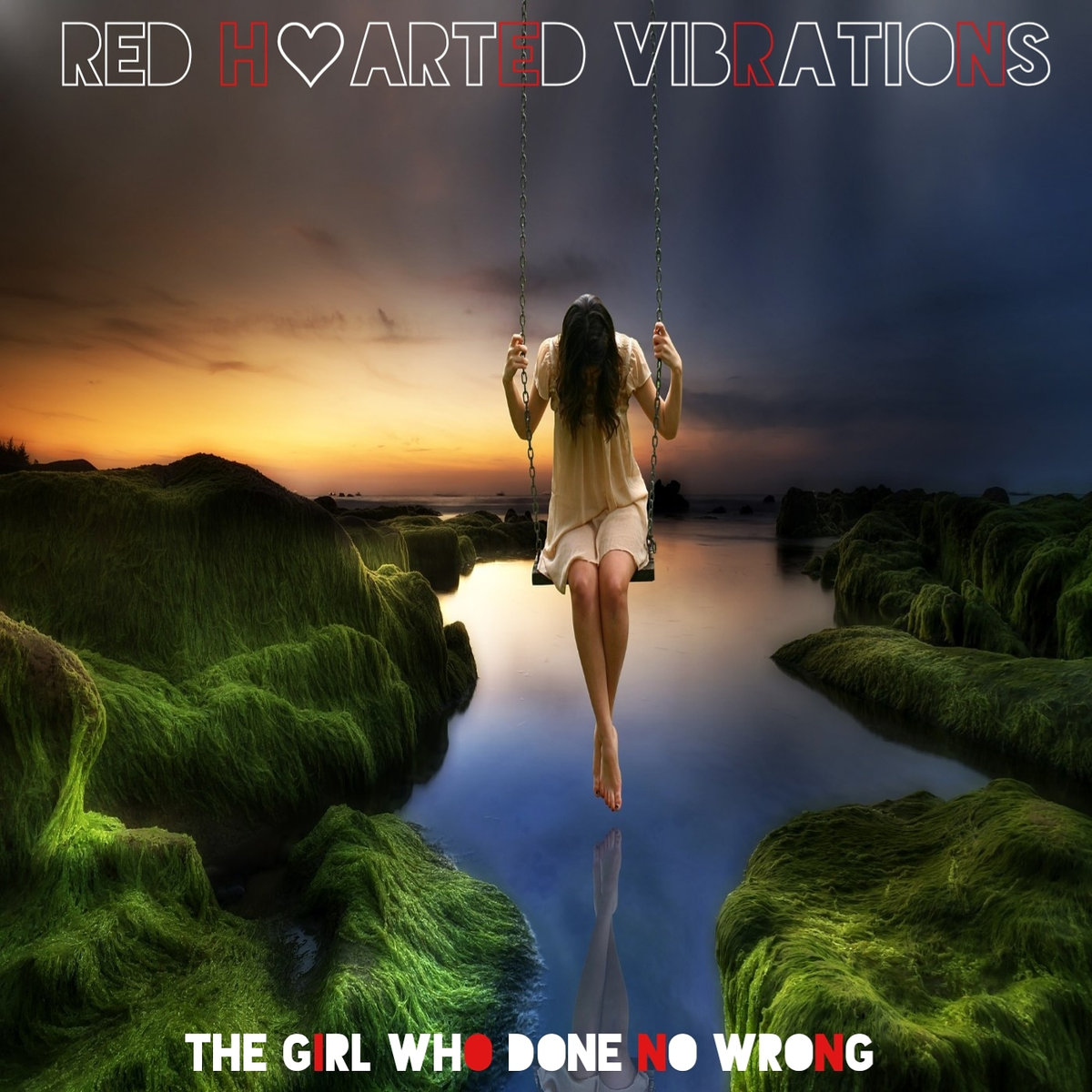 Red Hearted Vibrations 'The Girl Who Done No Wrong' Artwork