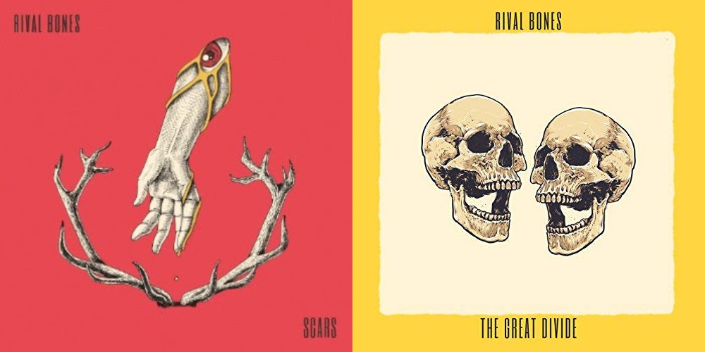 Rival Bones singles 'Scars' and 'The Great Divide' Artwork