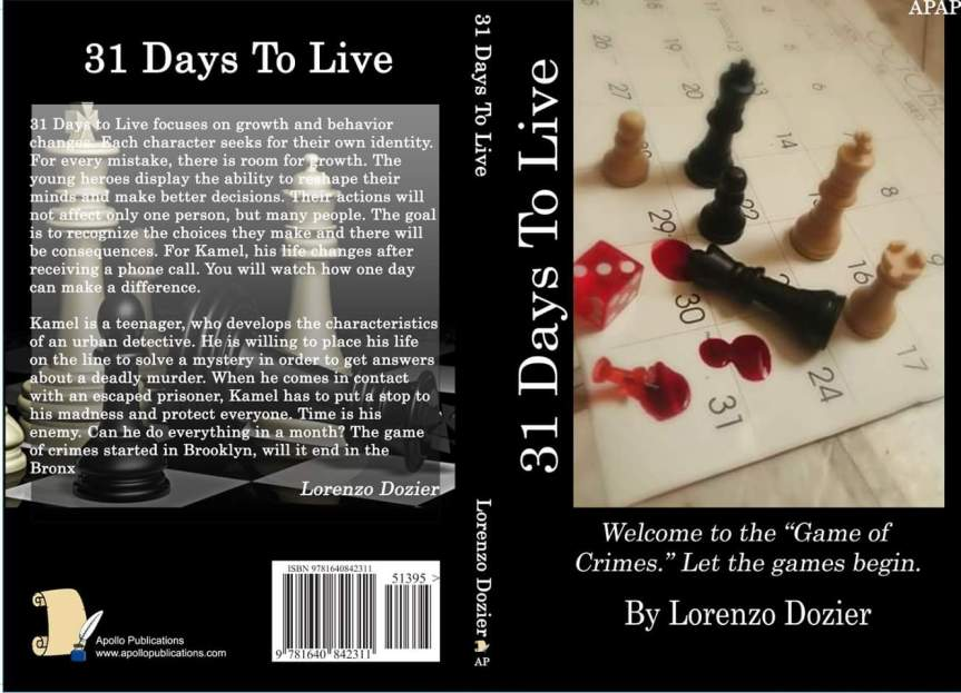 Book Review: 31 Days to Live by Lorenzo Dozier