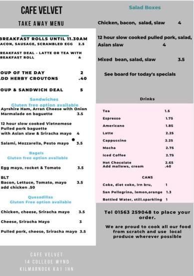Cafe Velvet - Menu (2)