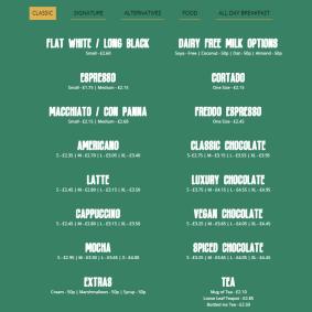 iCafe - Menu (1)