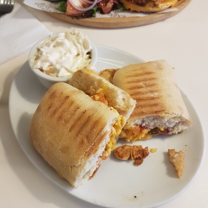 iCafe - Mexican Roasted Chicken Panini with extra cheese (1)