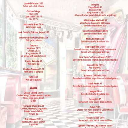 Rock Diner & Aces - Menu (1)