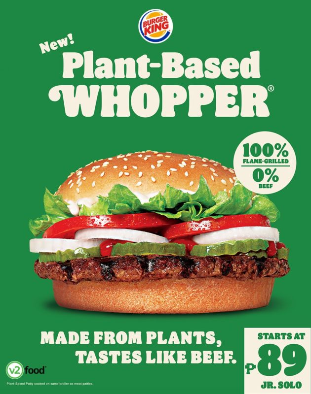 Food Review: Plant-based Whopper (BurgerKing)